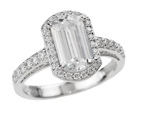 tacori iv diamonique epiphany emerald cut ring page 1