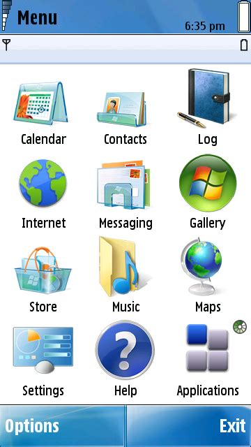 theme maker phoneky windows 7 aero theme symbian s60v5 and s 3 apps
