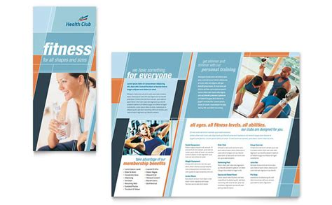 Fitness Brochure Templates health fitness brochure template design