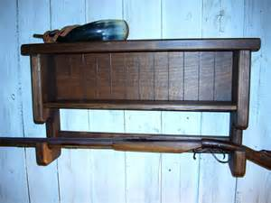 wall mounted gun rack shelf