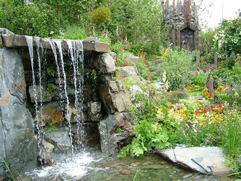 water fall garden 2004