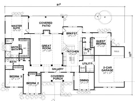 4 Bedroom House Plans One Story Floor Plan Single Story This Is It Extend The Dining Room And Washroom Make The 4th Bedroom
