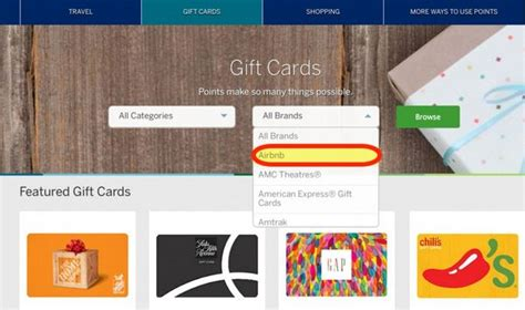 Amex Rewards Gift Cards - 25 bonus when you redeem amex membership rewards points for airbnb gift cards