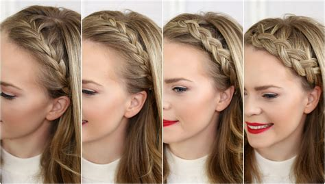 easy front lace braid how to tutorial youtube four headband braids missy sue youtube