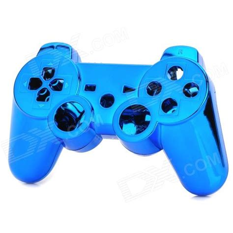 Gamepad Gameshock Single Getar Blue replacement abs for ps3 ps3 slim ps3 4000 controller electroplating blue
