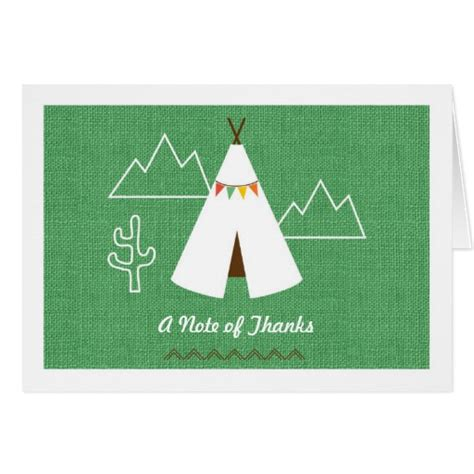free printable native american thank you cards native american birthday party thank you card zazzle