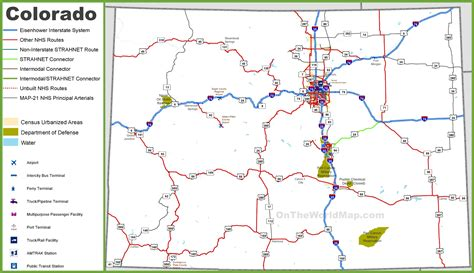 state map of colorado colorado road map