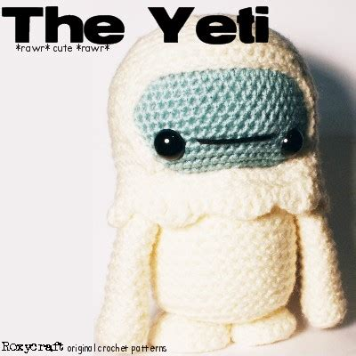 yeti crochet pattern new pattern release the yeti has landed roxycraft blog