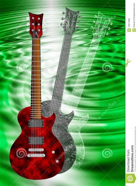 imagenes de guitarras rojas guitarras el 233 ctricas rojas y negras en fondo verde stock