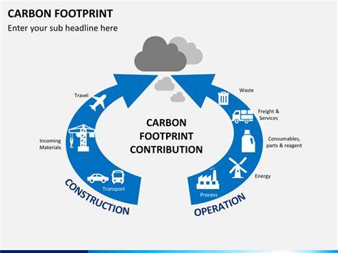 carbon footprints powerpoint template sketchbubble