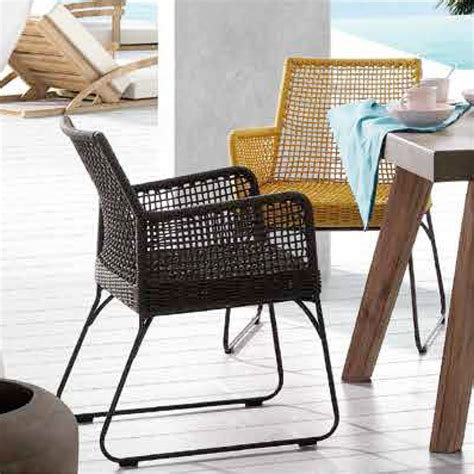 sedie in metallo moderne sedia da giardino moderna in metallo e corda molly