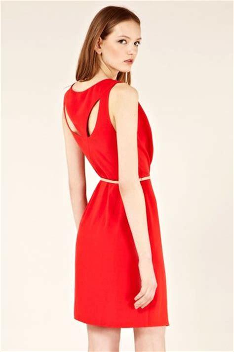 cowl drape dress oasis cowl drape dress in red lyst