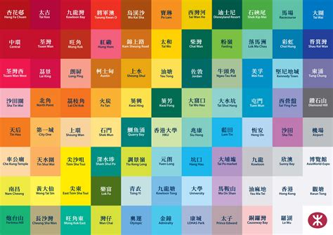 why are hong kong s mtr stations different colours