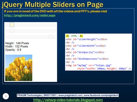 jquery tutorial for slider sql server net and c video tutorial jquery multiple
