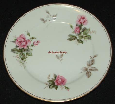 Pink Rose Pattern China   noritake 5460 rosa pattern china white pink rose salad