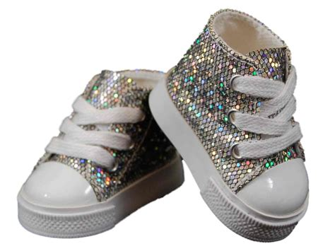 shoes and clothes silver high top sneakers shoes for 18 quot american 168 doll