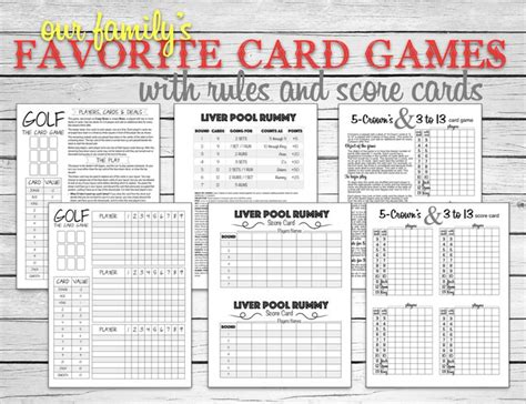 printable rules for card games 91 best images about family game night on pinterest
