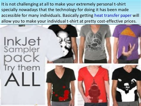 How To Make Transfer Paper For T Shirts - make your own t shirts by inkjet heat transfer paper