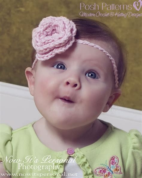 Baby Flower Headband crochet flower headband pattern baby headband