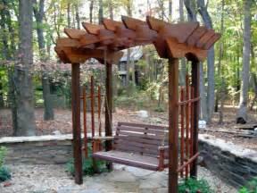 Garden Arch Swing Custom Trellis Swing Jpg From Crossfire Service Home
