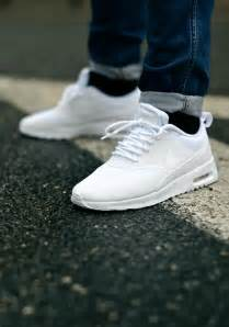 nike all white shoes ultra clean nike air max thea all white soletopia