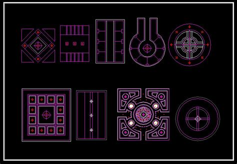 Ceiling Design Template Cad Drawings Download Cad Blocks
