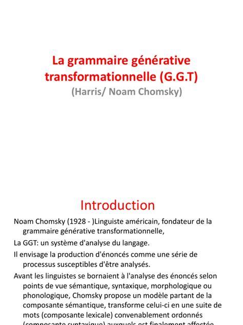noam chomsky biography ppt la grammaire g 233 n 233 rative transformationnelle g ppt