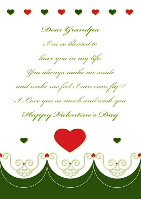 valentines day poems for grandparents printable cards for and