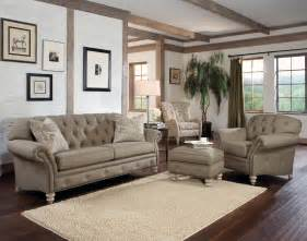 Livingroom Couch Rustic Modern Living Room With Light Brown Tufted Sofa