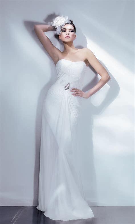 deco wedding dress chiffon deco wedding gown by bari deco weddings