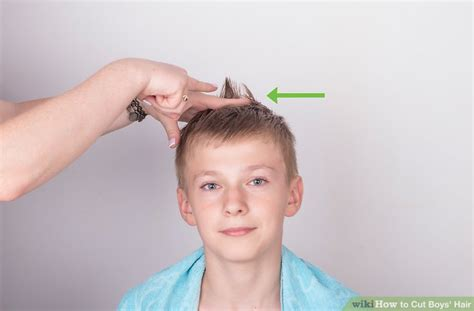 cutting boy hair with scissors 3 ways to cut boys hair wikihow