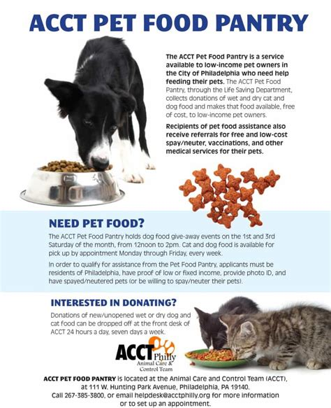 pet food pantry acct philly