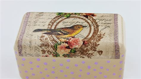How To Decoupage On Plastic - decoupage plastic box fast easy tutorial diy