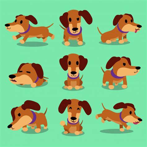 personaje de dibujos animados perro salchicha posa