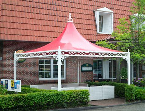 metall pavillon 4x4m bo wi outdoor living pavillons f 252 r gewerbe und garten
