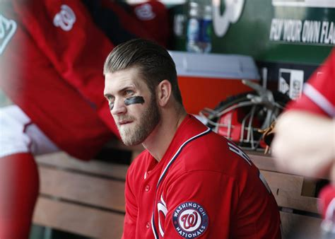 bryce harper benched bryce harper pulled from nationals loss due to lack of