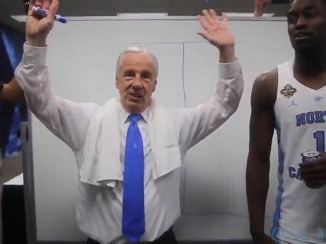 gets beat up in locker room unc s roy williams locker room turn up after beating gonzaga sector
