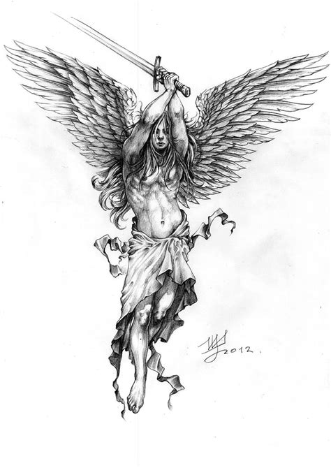archangel tattoo design best 25 archangel ideas on