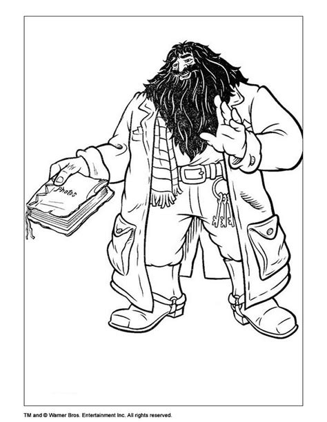 harry potter coloring book tutorial rubeus hagrid coloring pages hellokids
