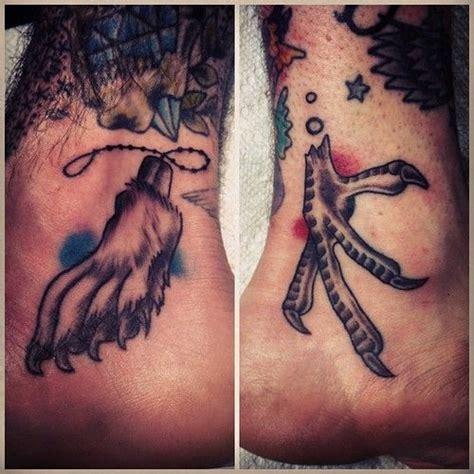 chicken foot tattoo chicken claw
