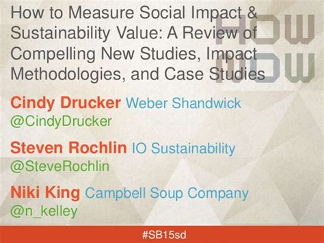 how to measure social impact sustainability value a