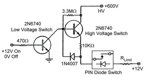 pin diode switch circuit electronic t r switching and the ameritron qsk 5 pin switch driver turning a pin diode