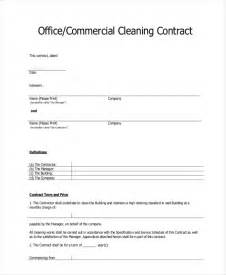 cleaning service agreement template sle cleaning contract agreement 6 exles in word pdf