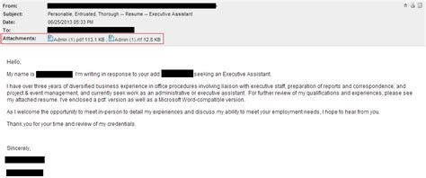inspiring email for resume your success