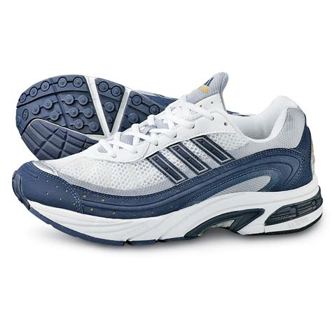 mens adidas cairo running shoes white navy  running shoes sneakers  sportsmans