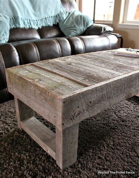 barnwood coffee table barn wood coffee table http bec4 beyondthepicketfence