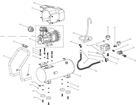 husky 4 gal air compressor bs1004w parts
