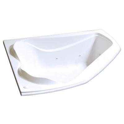 corner bathtub home depot maax velvet 5 ft whirlpool corner tub with 10 microjets