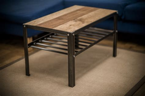 Steel Coffee Table Steel And Oak Coffee Table