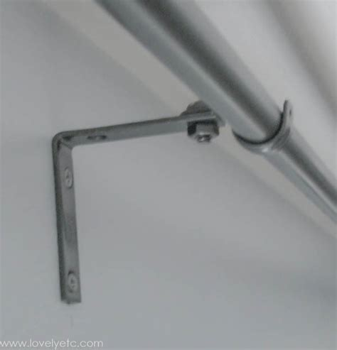 diy curtain rod brackets the cheapest diy curtain rods ever lovely etc